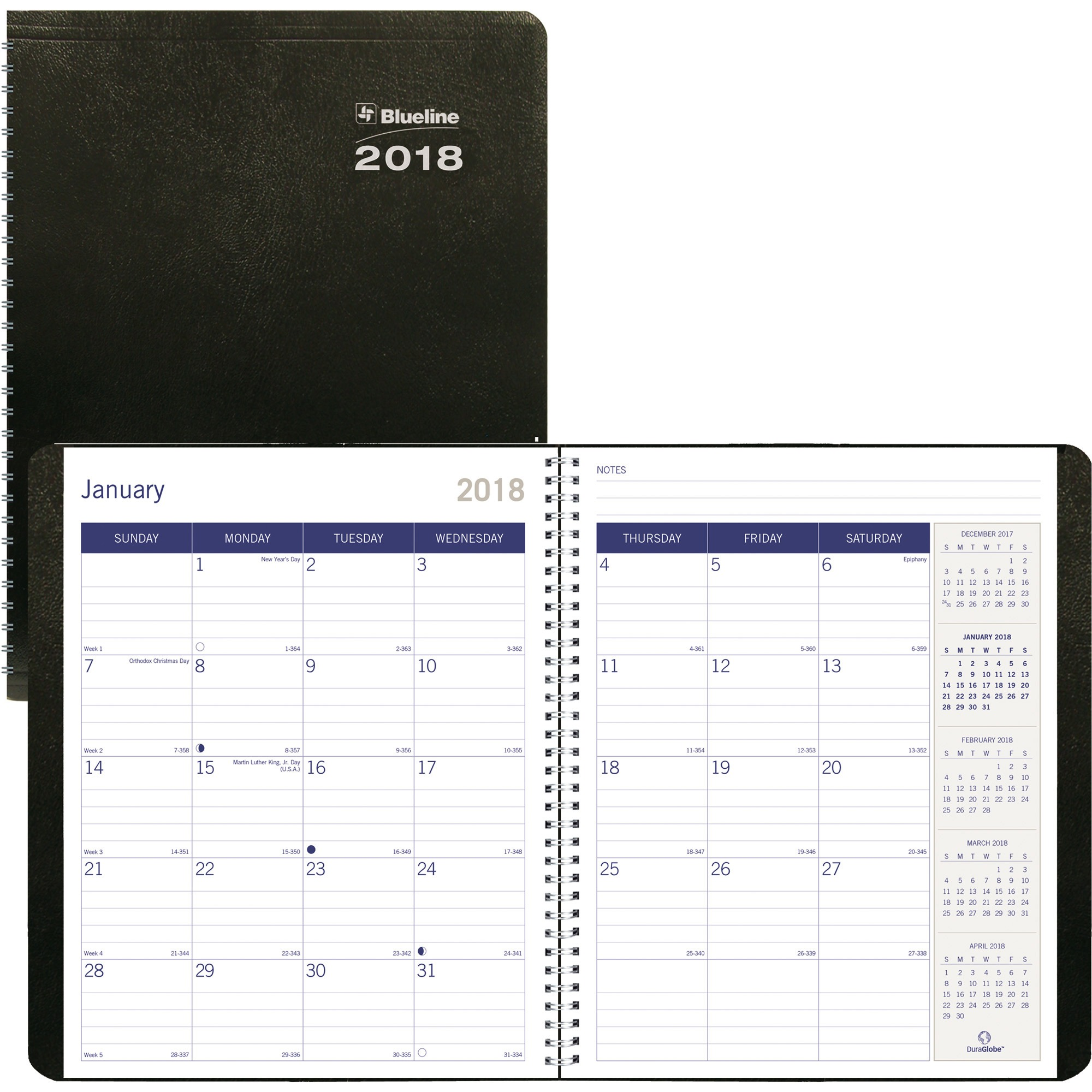 Blueline DuraGlobe Soft Cover Monthly Planner