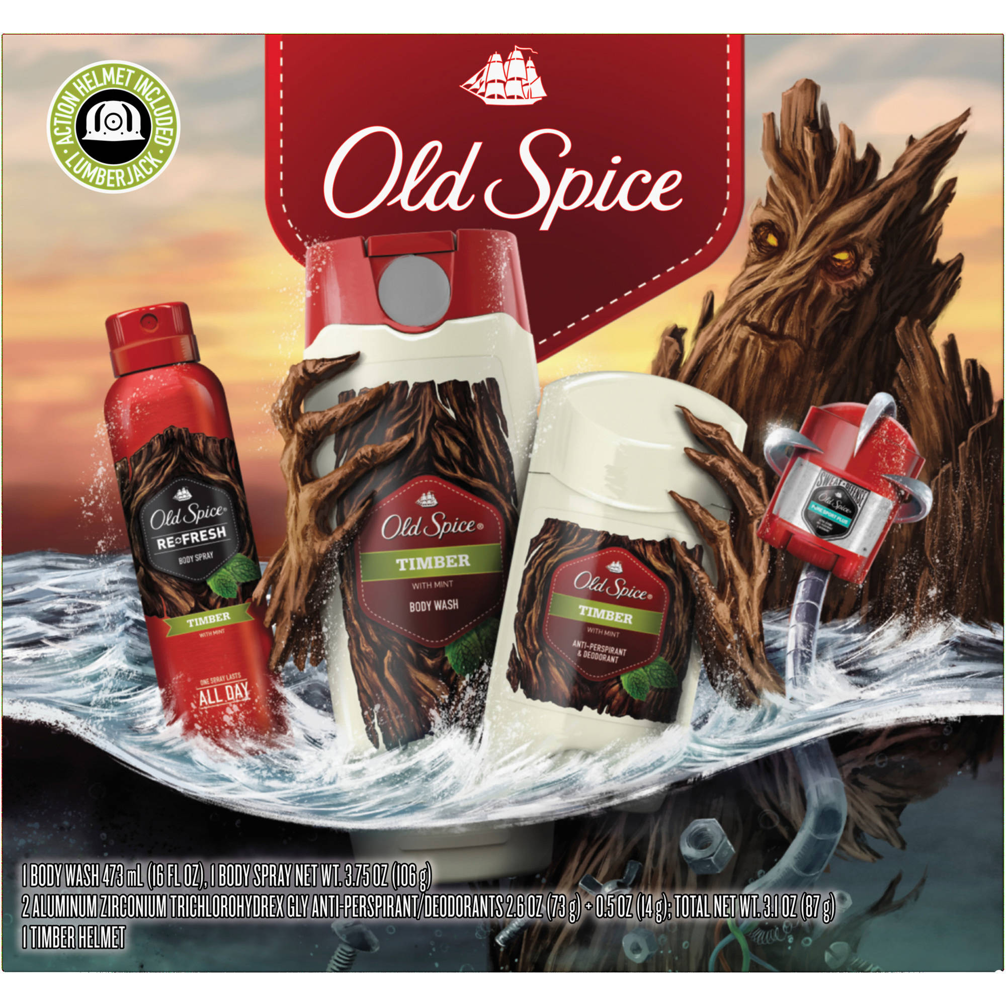 Old Spice Timber Holiday Gift Set, 5 pc