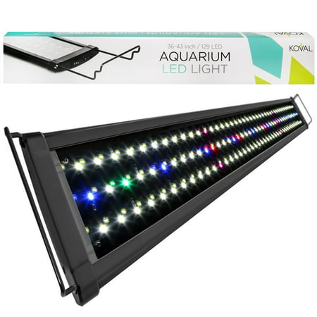 Koval Inc. 129 LED Aquarium Light with Extendable Brackets, 36-Inch to - Chemical Light Inc
