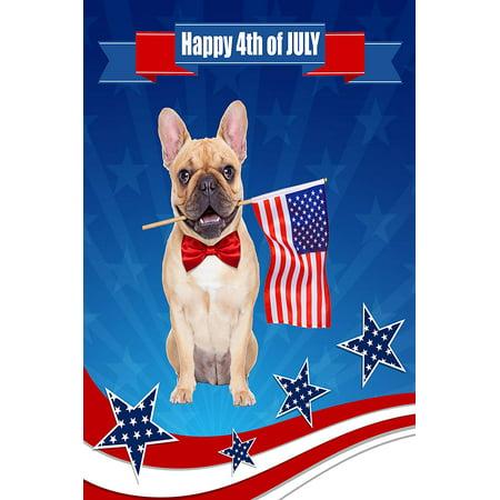 LivHappi Garden Flag 4th of July, Independence Day Patriotic Dog USA 12