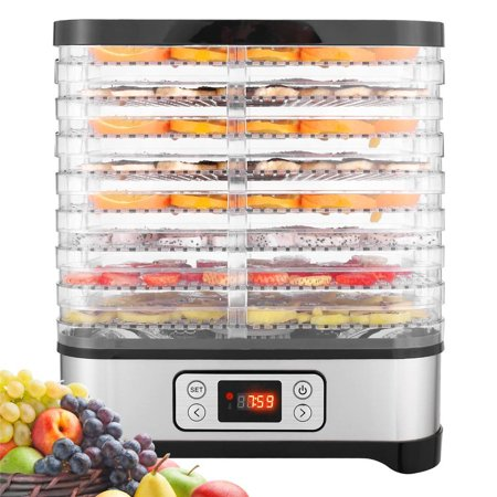 8 LayersFood Dehydrator, Electric Digital Food Dehydrator Machine for Jerky, Fruit, Vegetables & Nuts, Vegetable Dryer with Timer and Temperature Control  with LCD Display Screen - Jerky Kit Food