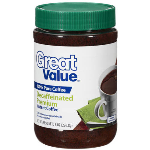 Great Value Decaffeinated Premium Instant Coffee, 8 Oz