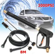 3000 PSI High Pressure Washer Gun Spray Gun, 2PCS 20 Inch Extension Replacement Wand Lance with 8M Pressure Washer Hose