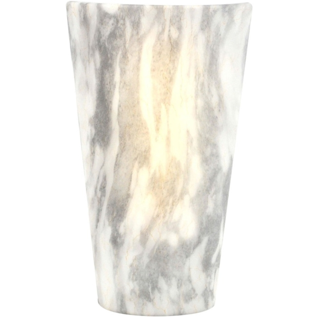 Its Exciting Lighting High Gloss Sconce Indoor Outdoor, Vivid Stone by Smart Solar