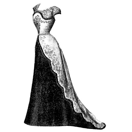 Civil War Ball Gown Pattern - Sewing Pattern: 1899 Ball Gown with Fur Edging Pattern