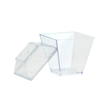- Lillian Caterware Mini Petite Gourmet Dish with Base & Cover, Clear, 10 Ct