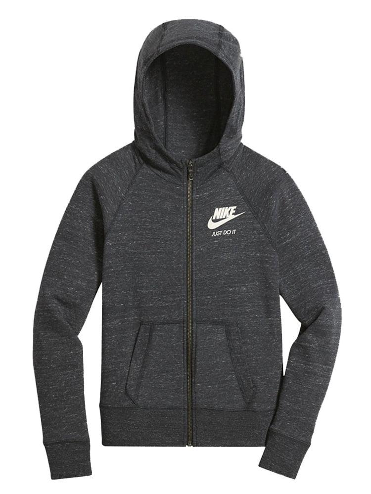 Nike Sportswear Gym Vintage Big Kids' (Girls') Hoodie, Anthracite/Sail, Small