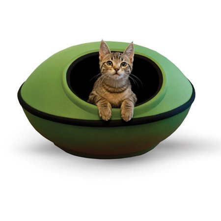 K&H Pet Products Mod Dream Pod Cat Bed, Green/Black