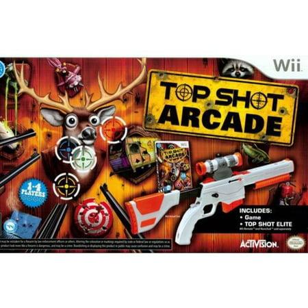 Wwii Gun - Top Shot Arcade with Top Shot Elite Gun Peripheral - Nintendo Wii