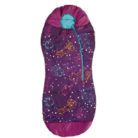 4a5bfd5417a Product Image AceCamp Kids Glow-in-The-Dark Sleeping Bag with Compression  Sack Purple Mummy