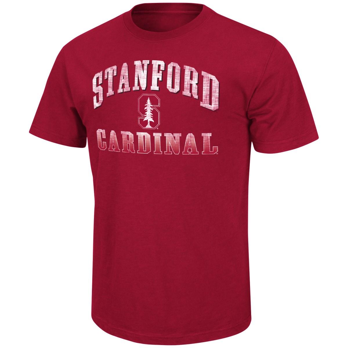 "Stanford Cardinal NCAA ""Contour"" Men's Short Sleeve Distressed T-Shirt"