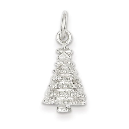 Christmas Tree Charm - Sterling Silver Christmas Tree Charm