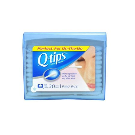 Q Tips Swabs Purse Pack 30 Each  Pack Of 11  By Unilever Hpc Usa