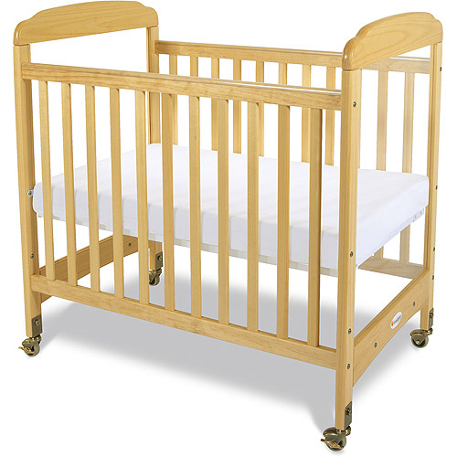 Foundations Serenity Portable Crib with Mattress Natural