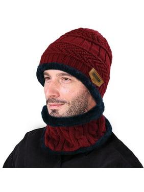 VBIGER Winter Beanie Hat Scarf Set Warm Knit Hat Thick Knit Skull Cap For Men Women Kids