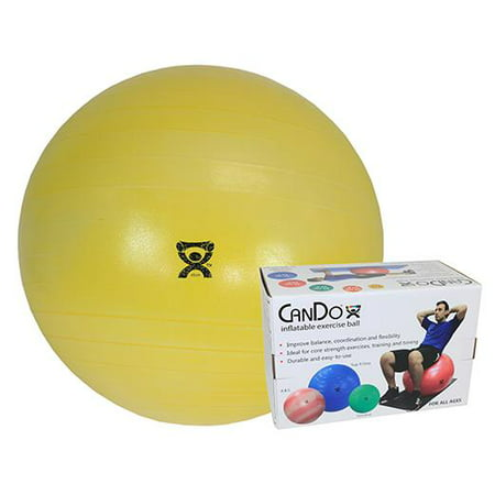 """CanDo Inflatable Exercise Ball - Extra Thick - Yellow - 18"""" (45 cm), Retail Box - image 1 de 1"""