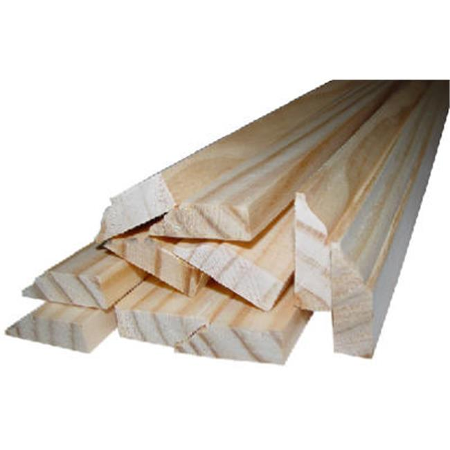 0W936-20084C1 7 ft. Colonial Stop Solid Pine Molding - Pack of 6