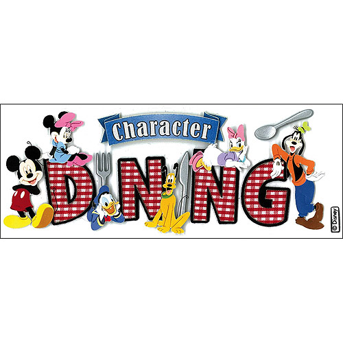 Disney Title Dimensional Stickers, Mickey, Character Dining