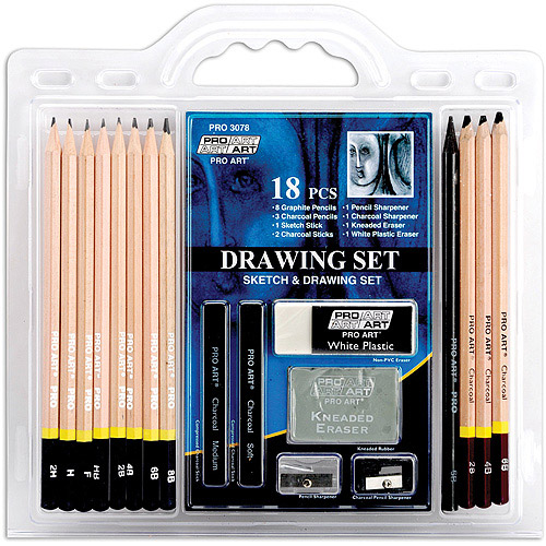 Pro Art Drawing Set, 18 Pieces by Pro Art