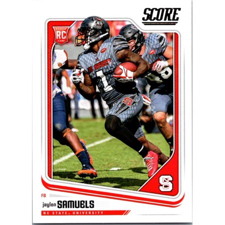 2018 Score #437 Jaylen Samuels NC State Wolfpack Football Card Nc State Wolfpack Game Table