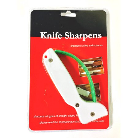 CableVantage Knife and Tool Sharpener 001 White with Full Length Finger Guard