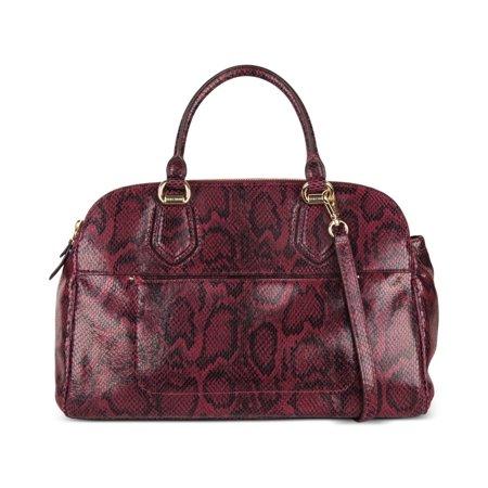 Cole Haan Tali Double Zip Snake-Embossed (Cole Haan Leather Hobo Bag)