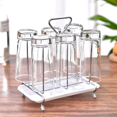 Glass Cup Water Storage Shelf Drying Cup Drainage Organizer Kitchen Stand - image 4 of 10