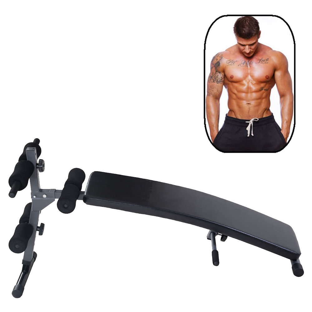 Zimtown Adjustable Incline Sit Up Bench Board for Home Gym AB Abdominal Crunch Exercise Workout, Foldable Fitness Equipment Machine  Weight Bench