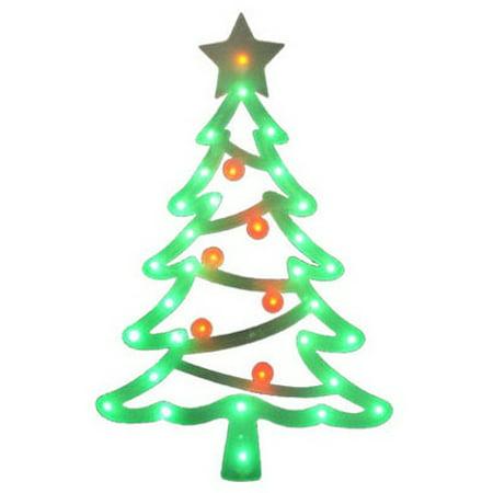 Noma Inliten Import V20865 Led Christmas Window Decoration Tree Battery Operated