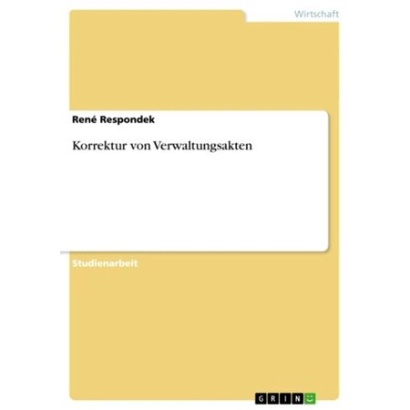Korrektur von Verwaltungsakten - eBook (Korrektur)
