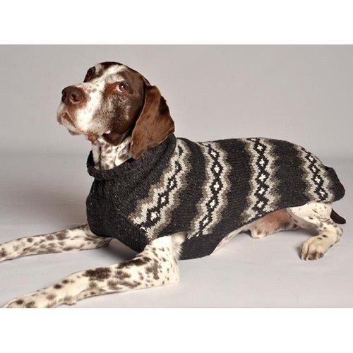 Chilly Dog Diamonds Pattern Dog Sweater - Gray