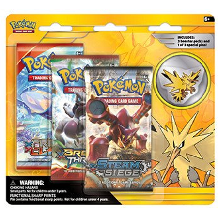 Pokemon TCG - Legendary Collectors 3-Booster Blister - Zapdos Pin - Zapdos Price