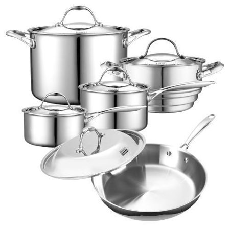 Cooks Standard Tri-Ply Clad Stainless Steel 10pc Cookware Set New!!!