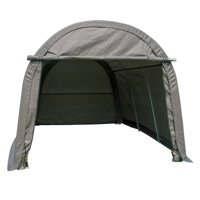Outdoor 10x15x8 FT Carport Canopy Tent Garage Storage Shed Steel Outdoor Awning Gray