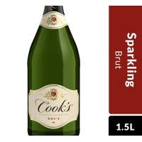 Cook's California Champagne Brut White Sparkling Wine, 1.5 L Bottle