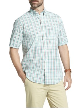0ad1c2fae8 Product Image Men s Arrow Hamilton Poplin Plaid Short Sleeve Button Down  Shirt