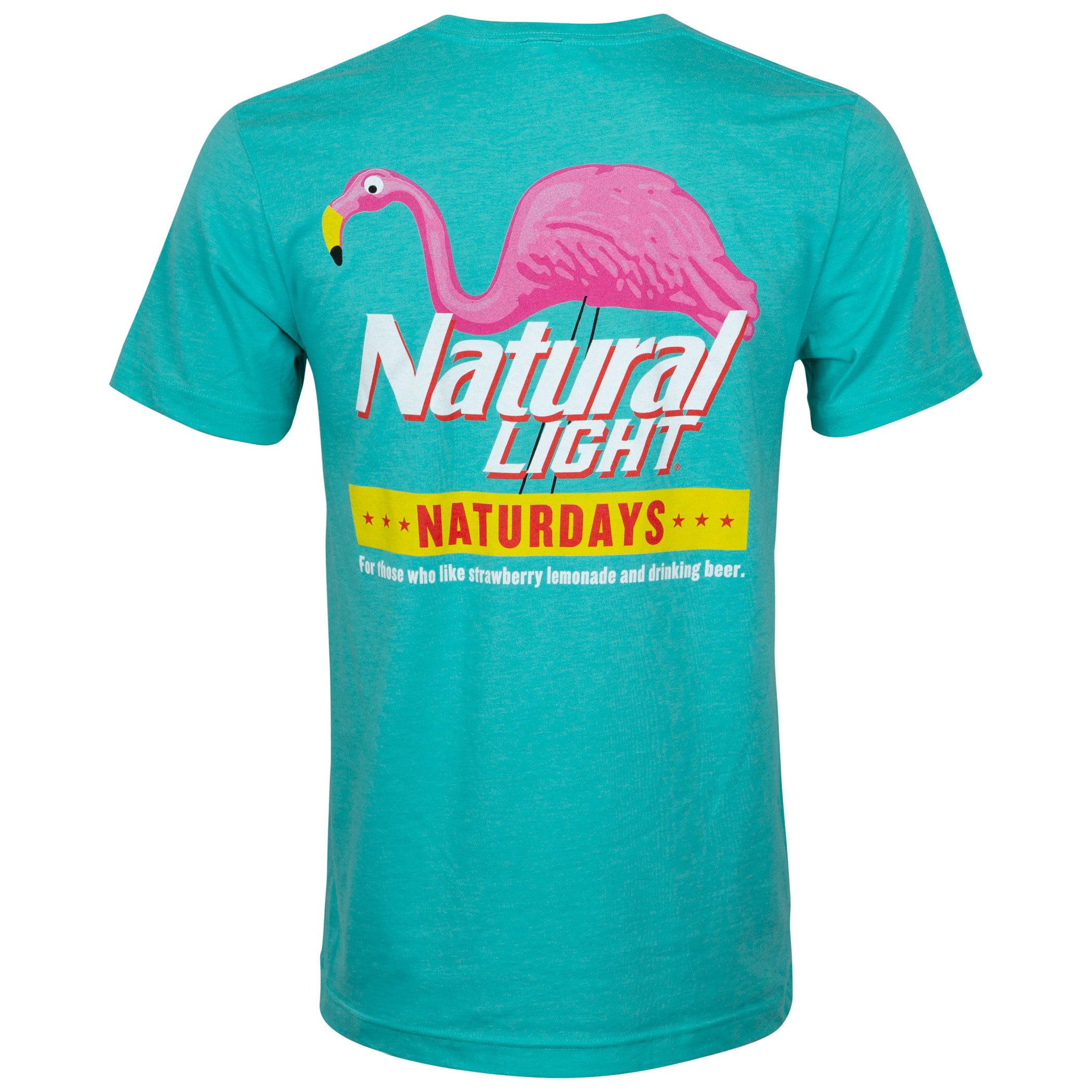 Natural Light Proud To Be An American Navy Pocket Tee Shirt Blue
