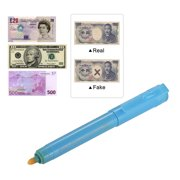 HOMEGEEK Multi-function UV Light Money Counterfeit Detector Pen Mini Banknote Tester Pen Currency Cash Checker Money Fake Dollar Marker for Dollar Euro Pound Yen Korean Won