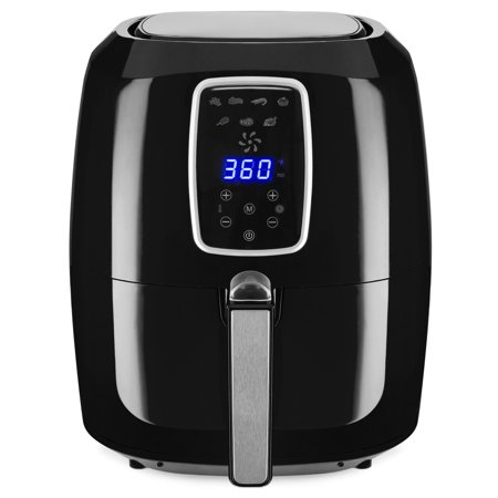Best Choice Products 5.5qt 7-in-1 Electric Digital Family Sized Air Fryer Kitchen Appliance w/ LCD Screen, Non-Stick Coating, Temp Control, Timer, Removable Fryer Basket - Black
