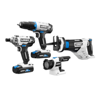 HART 20-Volt Cordless 4-Tool Combo Kit (2) 1.5Ah Lithium-Ion Batteries and 16-inch Storage Bag