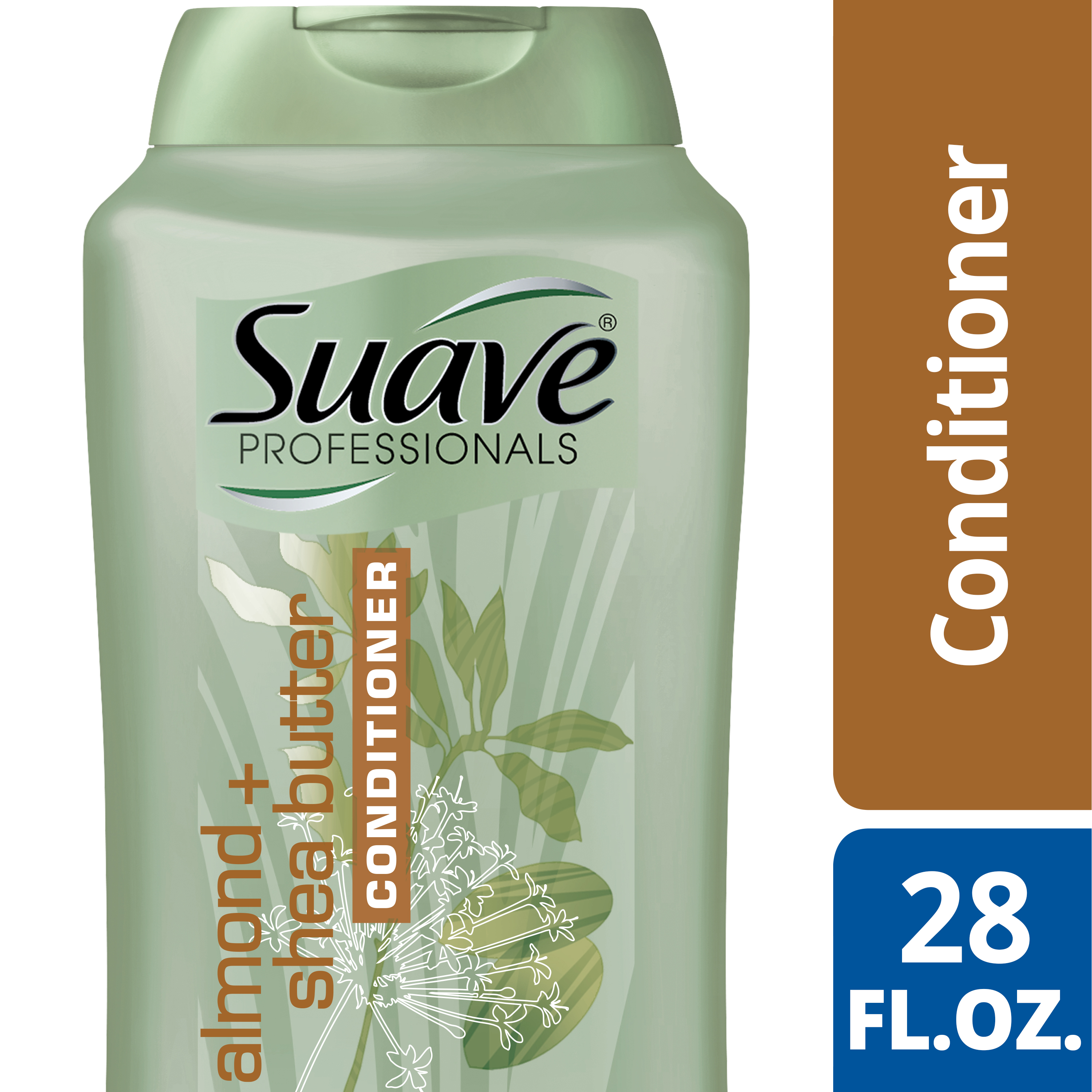 Suave Professionals Almond + Shea Butter Conditioner, 28 oz