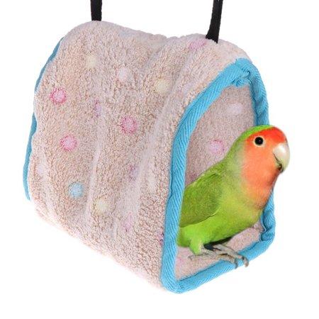Winter Bird Plush Hut Tent Hanging Bed Nest Cage Hammock For Parrot Parakeet (Eno Tent Hammock)
