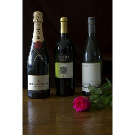 LAMINATED POSTER Italian Three Bottles Of Wine New Zealand French Poster Print 24 x 36 ()