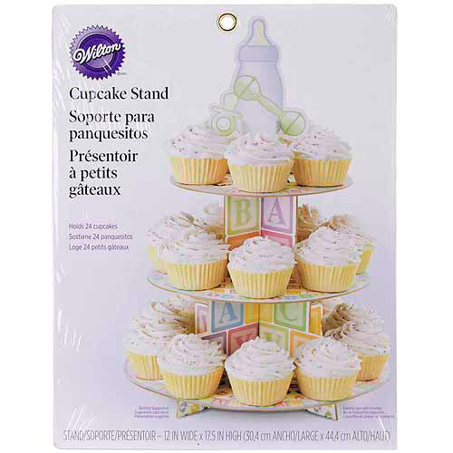 """Treat Stand-Baby Feet 12""""X17.5"""" Holds 24 Cupcakes"""