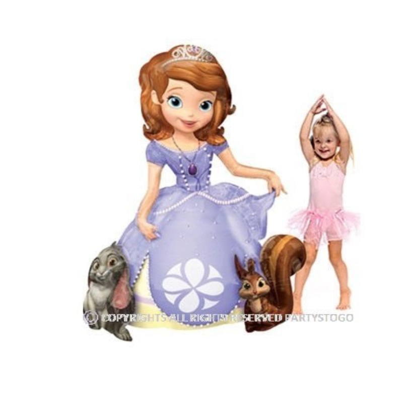 "SOFIA THE FIRST BALLOONS BIRTHDAY PARTY AIRWALKER BALLOON 48""121CM DECORATIONS SUPPLIES STANDS MOVES AROUND SOPHIA THE 1ST by Anagram"