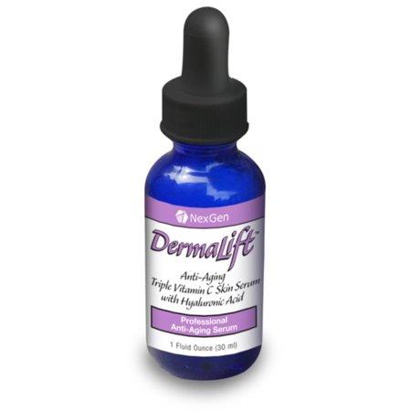 Dermalift - puissant 10% de vitamine C sérum avec l'acide hyaluronique et un complexe superfruits Antioxydant! Dermalift utilise trois types actifs de la vitamine C dans une solution d'acide hyaluronique.