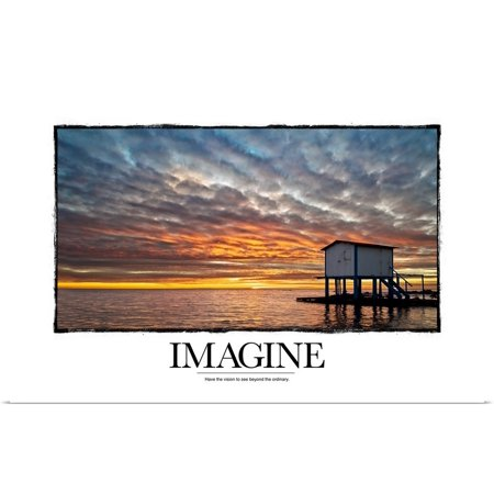 Great BIG Canvas   Rolled Kate Lillyson Poster Print entitled Inspirational Motivational Poster: Have the vision to see beyond the ordinary