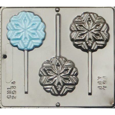 2034 Snowflake Lollipop Chocolate Candy Mold](Snowflake Mold)
