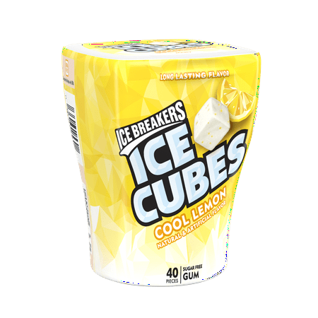 Ice Breakers, Ice Cubes Cool Lemon Sugar Free Gum, 3.24 Oz