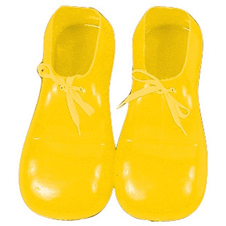 Adult Yellow Clown Shoes Adult Halloween Accessory (Gangster Clown Makeup)